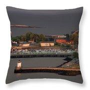 Coastal Life In Maine Throw Pillow
