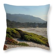 Coastal View - Ice Plant  Throw Pillow