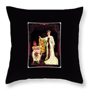 Coca - Cola Vintage Poster Throw Pillow