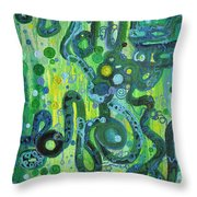 Coil To Globule Throw Pillow