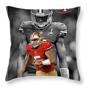 Colin Kaepernick 49ers Throw Pillow