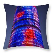 Colorful Elevation Of Modern Building Throw Pillow