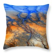 Colorful Runoff Throw Pillow