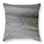 2 Colors Throw Pillow