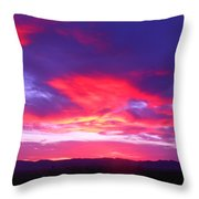 Colourful Arizona Sunset Throw Pillow