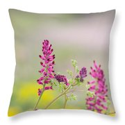 Common Fumitory Throw Pillow