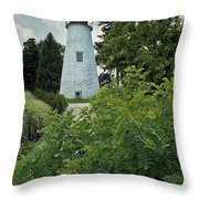 Concord Point Lighthouse Throw Pillow by Skip Willits