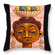 Congalese Face 2 Throw Pillow
