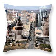 Congress Avenue Throw Pillow