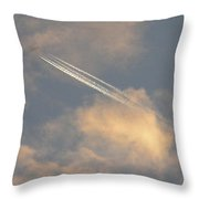 Contrail And Venus Throw Pillow