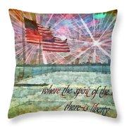 2 Corinthians 3 17 Throw Pillow