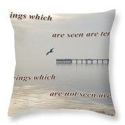 2 Corinthians 4 Verse 18 Throw Pillow