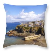 Cornwall - Port Isaac Throw Pillow