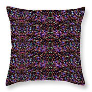 Cosmic Star Sparkles Spectrum Abstract Art By Navin Joshi Created Out Of Christmas Lights Gifts And  Throw Pillow