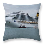 Costa Fortuna Throw Pillow