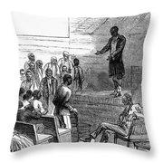 Cotton Plantation, 1867 Throw Pillow