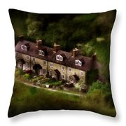 Country House In Bakewell Town Peak District - England Throw Pillow