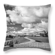 Country Living Bw Throw Pillow