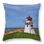 Covehead Harbour Lighthouse Throw Pillow