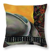 Cowgirl Necessities Throw Pillow