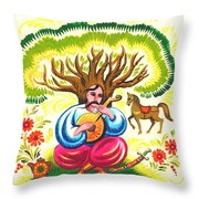 Cossack Mamay Throw Pillow