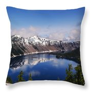 Crater Lake - Oregon Throw Pillow