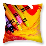 Crayon Soup Throw Pillow