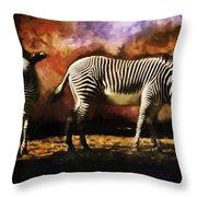 Creation Zebra Throw Pillow
