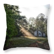 Crepuscular Rays In Alabama Throw Pillow