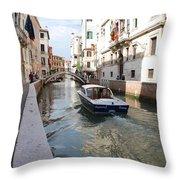 Cruisin' The Canals Throw Pillow