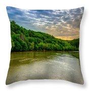 Cumberland River Throw Pillow