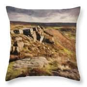 Curbar Edge Throw Pillow