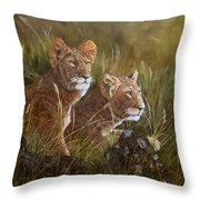 Curious Anticipation Throw Pillow