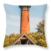 Currituck Beach Lighthouse On The Outer Banks Of North Carolina Throw Pillow