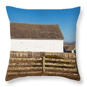Dairy Buildings At Historic Pierce Throw Pillow