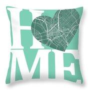 Dallas Street Map Home Heart - Dallas Texas Road Map In A Heart Throw Pillow