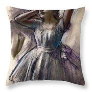 Dancer Stretching Throw Pillow