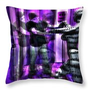 Dancing All Night Long In The Studio Throw Pillow by Sir Josef - Social Critic - ART