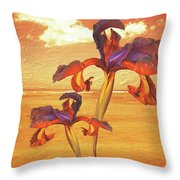 Dancing In The Sunset Throw Pillow