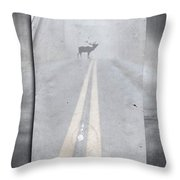 Danger Ahead Throw Pillow by Edward Fielding