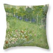 Daubigny's Garden Throw Pillow