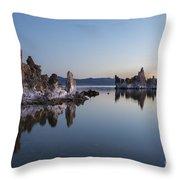 Dawn On Mono Lake Throw Pillow