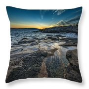 Day's End At Scoodic Point Throw Pillow