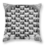 Declaration Of Independence Throw Pillow by Granger