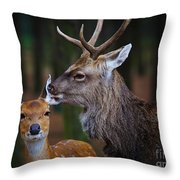 Deer Love Throw Pillow