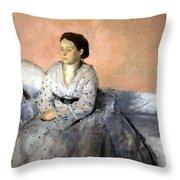 Degas' Madame Rene De Gas Throw Pillow