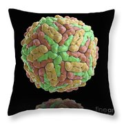 Dengue Virus Throw Pillow
