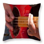 Bass Playing - Denver Throw Pillow