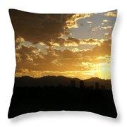 Denver Sunset  I Throw Pillow
