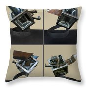 Derailed Boxcar Throw Pillow